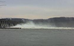 Conowingo Dam, Susquehanna River, 12/26/07