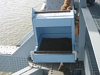 Peregrine nestbox at Allegheny River bridge (photo by Doug Dunkerley)