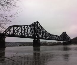 Ohio River railroad bridge, Beaver, PA