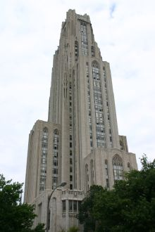 University of Pittsburgh, Cathedral of Learning (photo from Univ. of Pittsburgh)