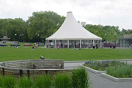 Schenley Plaza tent (photo by Kate St. John)