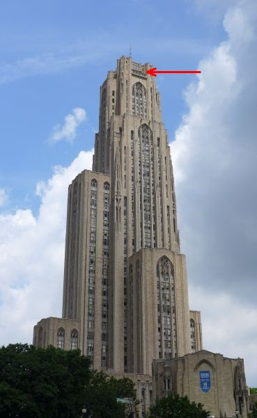 Cathedral of Learning peregine area (photo by Kate St. John)