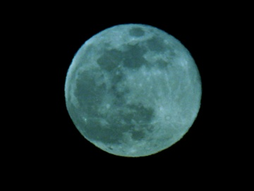 A Blue Moon (photo by Chuck Tague, retouched by Chuck himself)