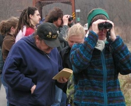 Birders on Pitt Sciences outing 2006 (photo by Z Taylor)
