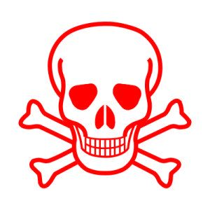 Hazard Symbol, poison warning (image from Wikipedia, in the public domain)