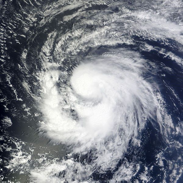 Satellite image of Hurricane Katia, 31 Aug 2011 (image from NASA, MODIS Rapid Response System on Wikimedia Commons)