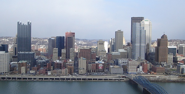 View of Pittsburgh from Mt. Washington tower (photo by Shane Cooper)