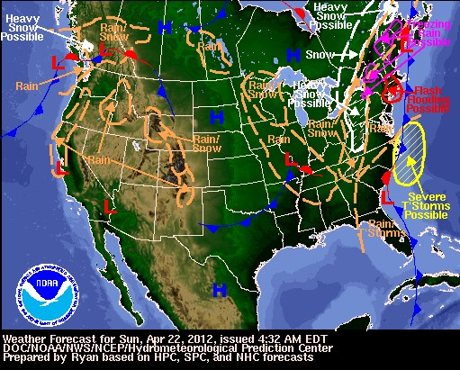 Difficult Weather Outside My Window - Us-weather-service-map