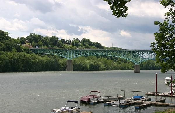 Tarentum Bridge, Allegheny River, 2 June 2012 (photo by Kate St. John)