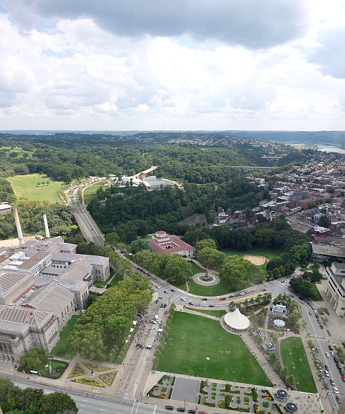 View of Schenley Park from the Cathedral of Learning (photo from Wikimedia Commons)