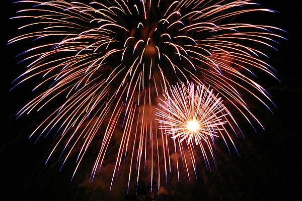 Fourth of July fireworks (photo from Wikimedia Commons)