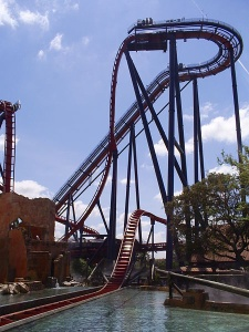 SheiKra roller coaster, Tampa Bay, FL (photo from Wikimedia Commons)