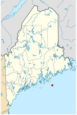 Map showing location of Mount Desert Rock (image from Wikimedia Commons)