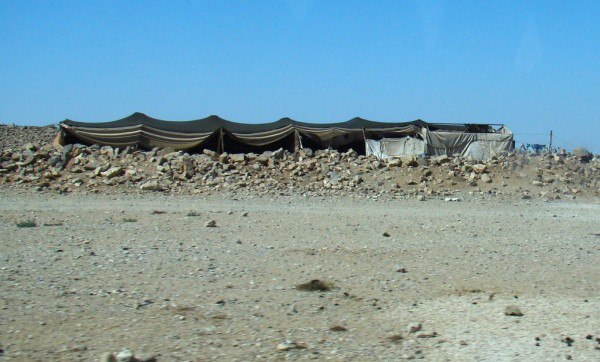 Bedouin black tent in Jordan (photo by Anita Gould, Cretve Commons license, Flickr)
