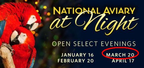 National Aviary at Night event