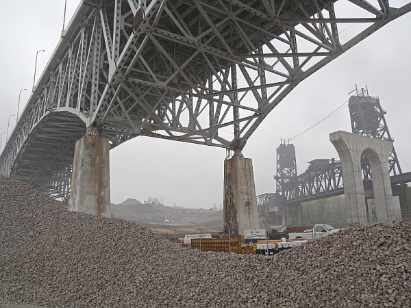 Underside of old I-90 Inner Loop span in 2012 (photo by Chad+Chris Saladin)