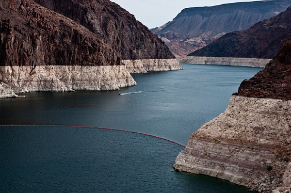 Colorado River water loss as seen at Lake Mead, Nevada (photo from US Bureau of Reclamation)