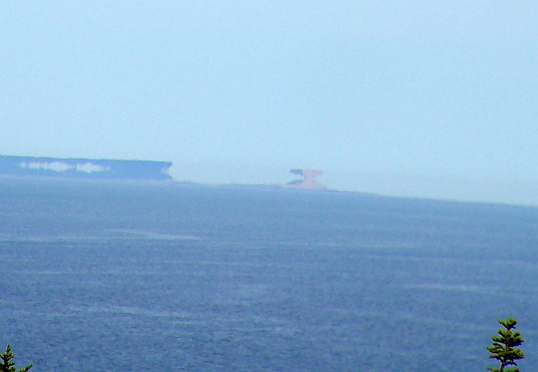 September mirage of distant islands near Great Wass, Maine (photo by Kate St. John)