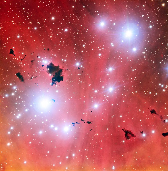 Stellar nursery IC 2944 as seen by ESO's Very Large Telescope (photo by ESO)