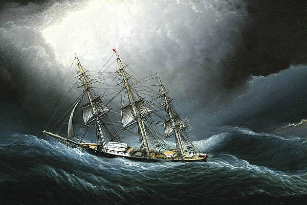 Clipper Ship at Cape Horn by James E. Butterworth (image from Wikimedia Commons)