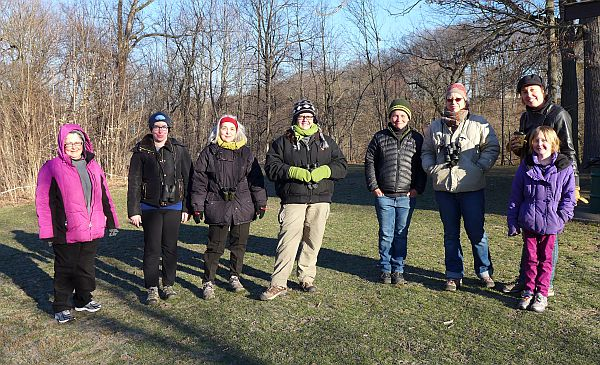 Participants in the Schenley Park Walk, 29 March 2015 (photo by Kate St. John)