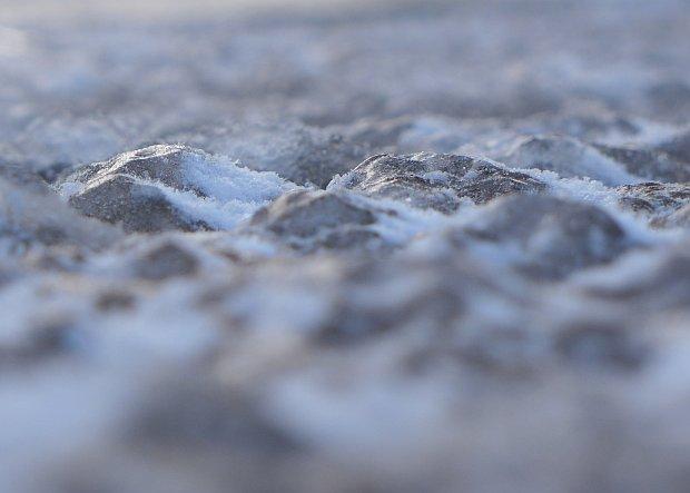 Icy sidewalk,2 Mar 2015 (photo by Kate St. John)