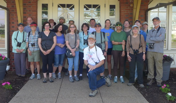 Participants in May 31 Walk in Schenley Park (photo by Kate St. John)