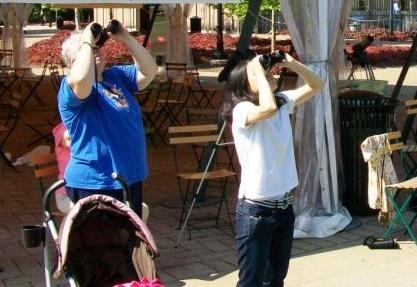 Pitt Peregrine Fledge Watchers, 2010 (photo by Sharon Leadbitter)