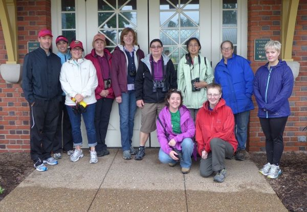 Participants in Sunday's walk in Schenley Park (photo by Kate St.John)