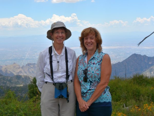 Kate St. John and Donna Memon at Mount Lemmon, AZ (photo by Razzak Memon)
