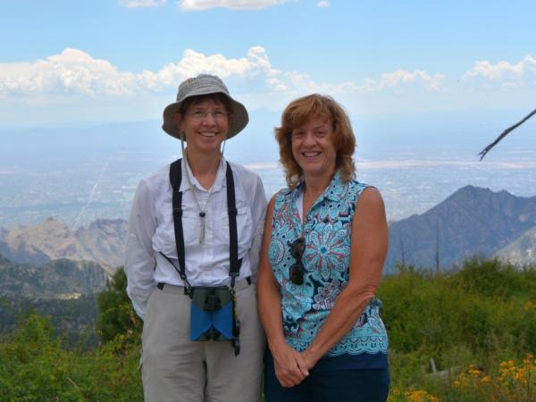 Kate St. John and Donna Memon at Mount Lemmon, AZ (photo by Razzak Memon)
