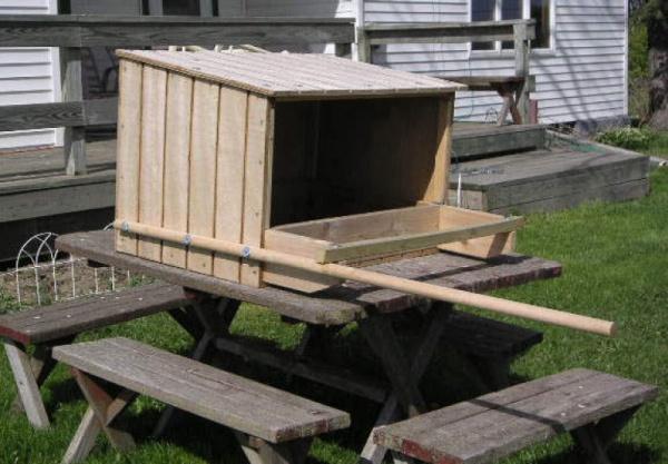 Standard peregrine nest box (photo courtesy Art McMorris, PGC)