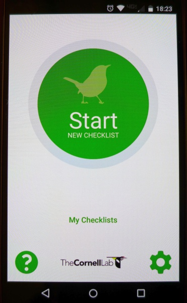 eBird Mobile for Android (photo by Kate St. John)