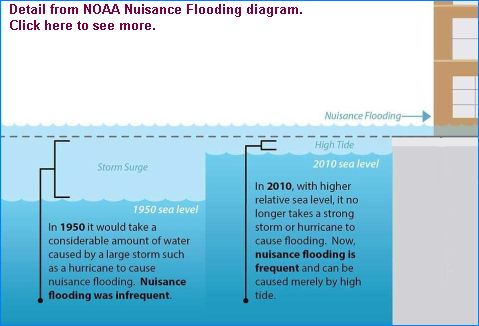 Excerpt from Nuisance Flooding Diagram. Click on this to see the original (diagram from NOAA)