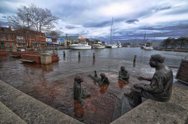 Flooding at Annapolis city dock (photo by Amy McGovern)