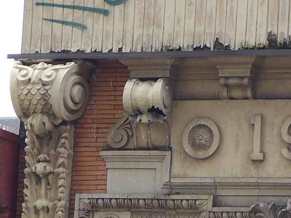 The perfect hole for kestrels, 1904 building (photo by Kate St. John)