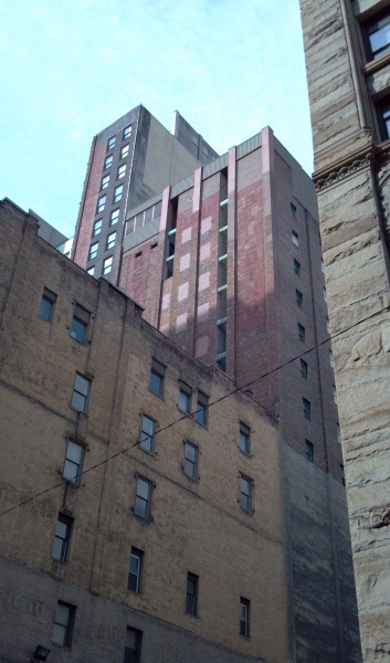 The back of 322 Fourth Ave as seen from 3rd Avenue (photo by Kate St. John)