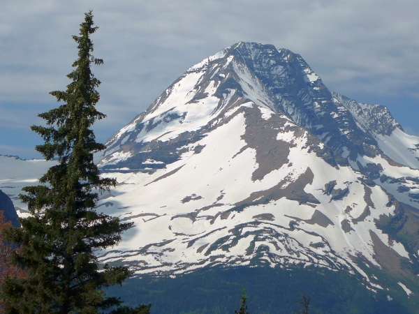 Snowy peak, Mount Jackson, Glacier National Park, Montana, 30 June 2016 (photo by Kate St. John)
