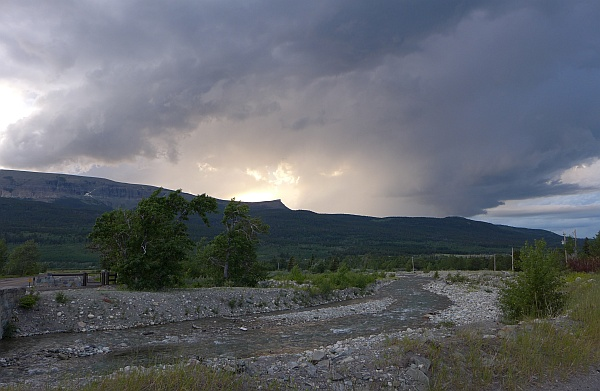 Thunderstorm coming over the mountains, 28 June 2016 (photo by Kate St. John)