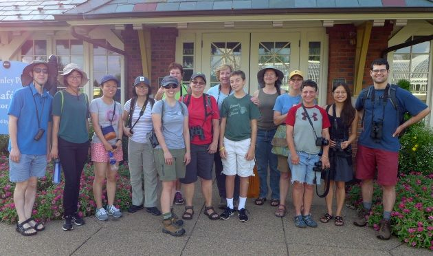 Participants at the Schenley Park outing on 28 Aug 2016 (photo by Kate St. John)