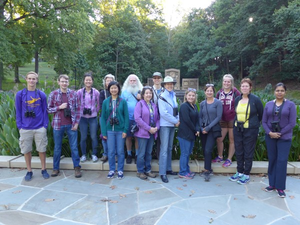 Participants at Schenley Park outing, 25 Sept 2016 (photo by Kate St.John)