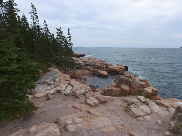Pink granite coast on the Ship Harbor Trail, September 2014 (photo by Kate St. John)