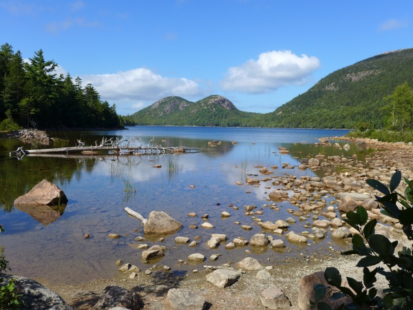 The Bubbles at Jordan Pond, September 2014 (photo by Kate St. John)
