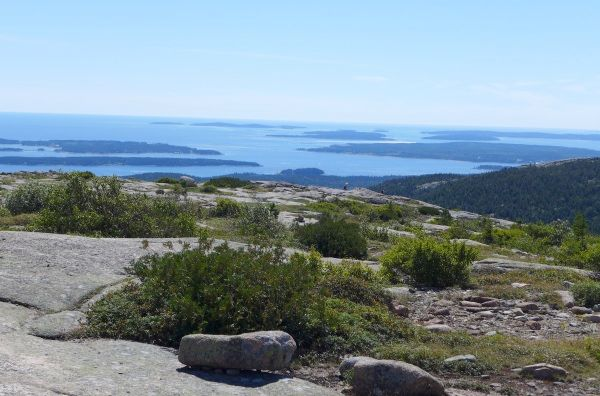 Looking southeast from Cadillac Mountain south trail, September 2014 (photo by Kate St. John)