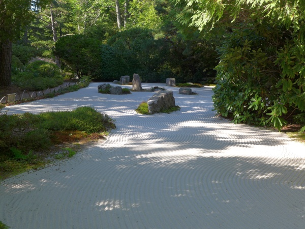 The Sand Garden at Asticou Azalea Garden, September 2015 (photo by Kate St. John)