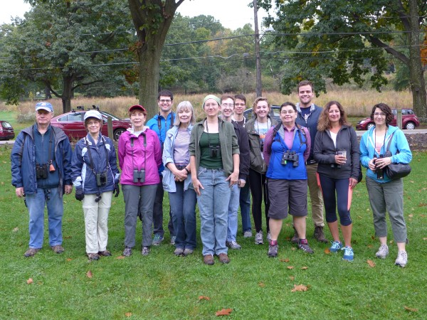 Participants in Schenley Park outing on 16 October 2016 (photo by Kate St. John)