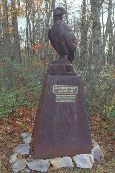 Statue of the Golden Eagle at Allegheny Front Hawk Watch (photo by Donna Foyle)