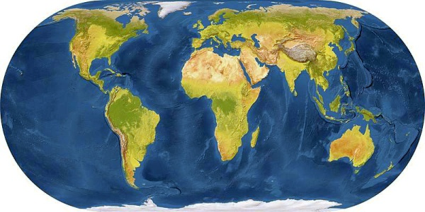 Map of the world (image from Wikimedia Commons)