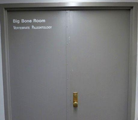 Door to the Big Bone Room (photo by Kate St. John)
