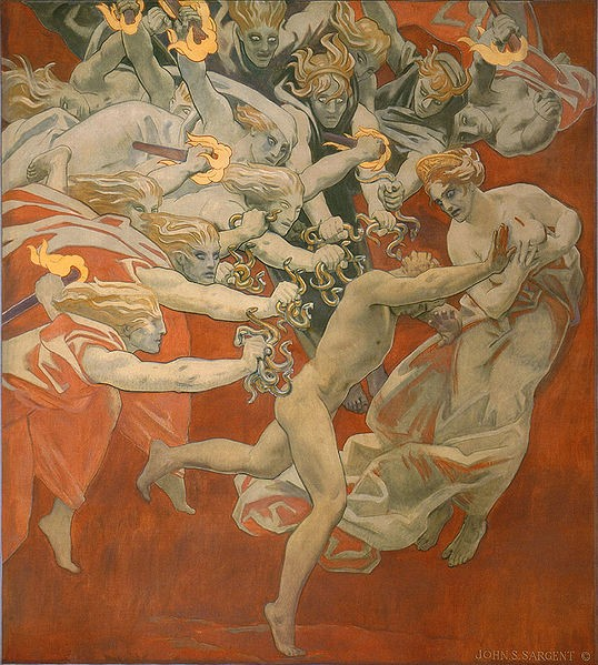 Orestes Pursued by the Furies by John Singer Sargent (reproduction from Wikimedia Commons)